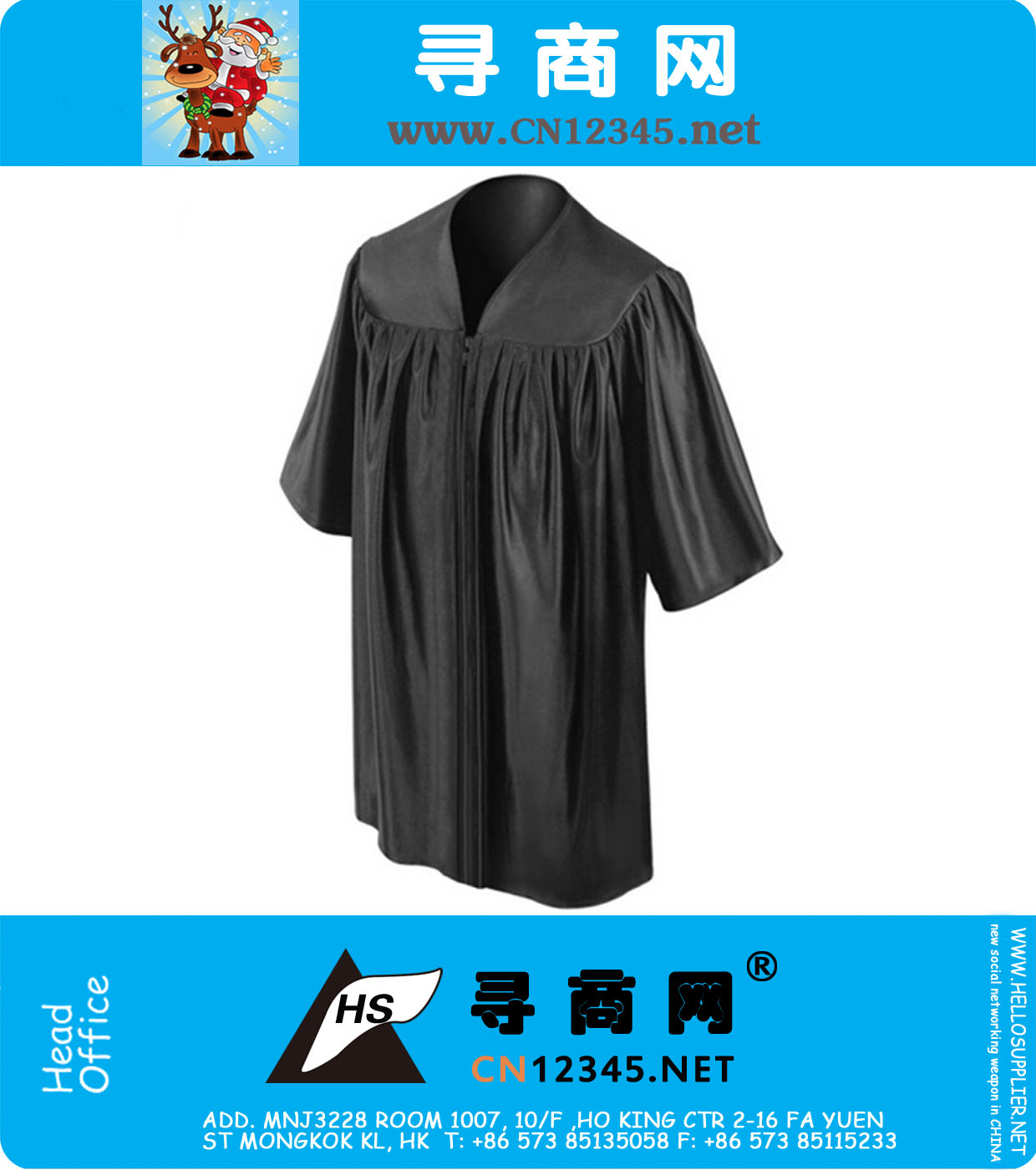 Shiny Black Kindergarten Preschoole Graduation Gowns, NA-KB001 ...