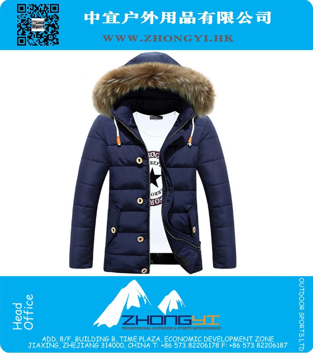 01b00b3cb Winter Jacket Men Warm Cotton Jackets Mens Casual Slim Thick Coat ...