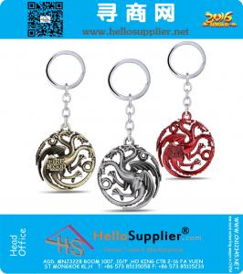 Keychain can dropshipping A Song of Ice and Fire Metal Key Rings For Gift