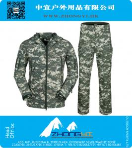 Shark skin soft shell lurkers outdoors tactical military fleece jacket uniform pants suits Camouflage hunting clothes