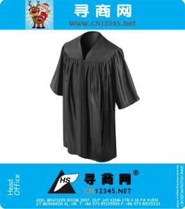 Shiny Black Kindergarten Preschoole Graduation Gowns