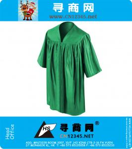 Shiny Green Kindergarten Graduation Gowns