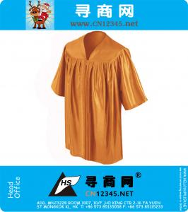 Shiny Orange Preschool Graduation Gowns-12 Colors avalible
