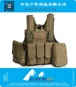 Steel wire molle tactical vest combat Military airsoft paintball training uniform outdoor